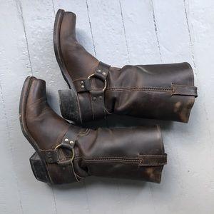 Frye 12R harness boots, size 8, medium width